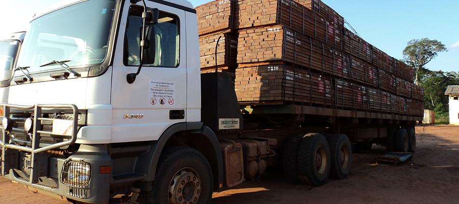 Transportion of timber bundles